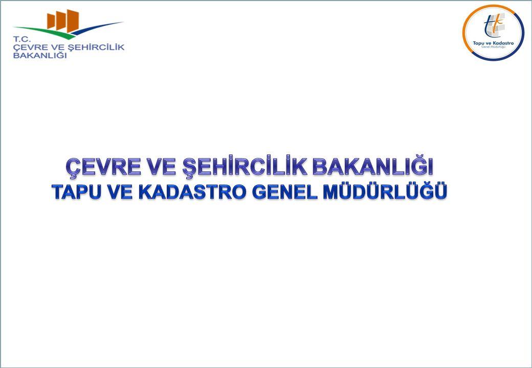 Kadastro Dairesi Başkanlığı Nihat ERDOĞAN Şube Müdürü Aralık-2015 TAPU VE KADASTRO GENEL MÜDÜRLÜĞÜ