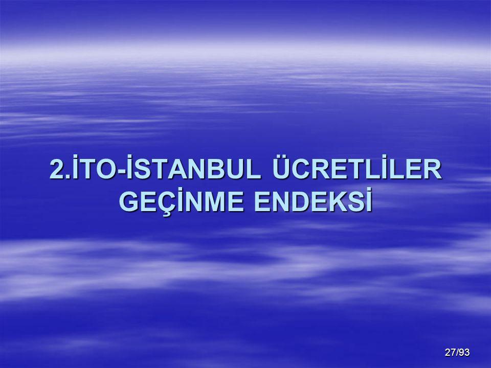 27/93 2.İTO-İSTANBUL ÜCRETLİLER GEÇİNME ENDEKSİ