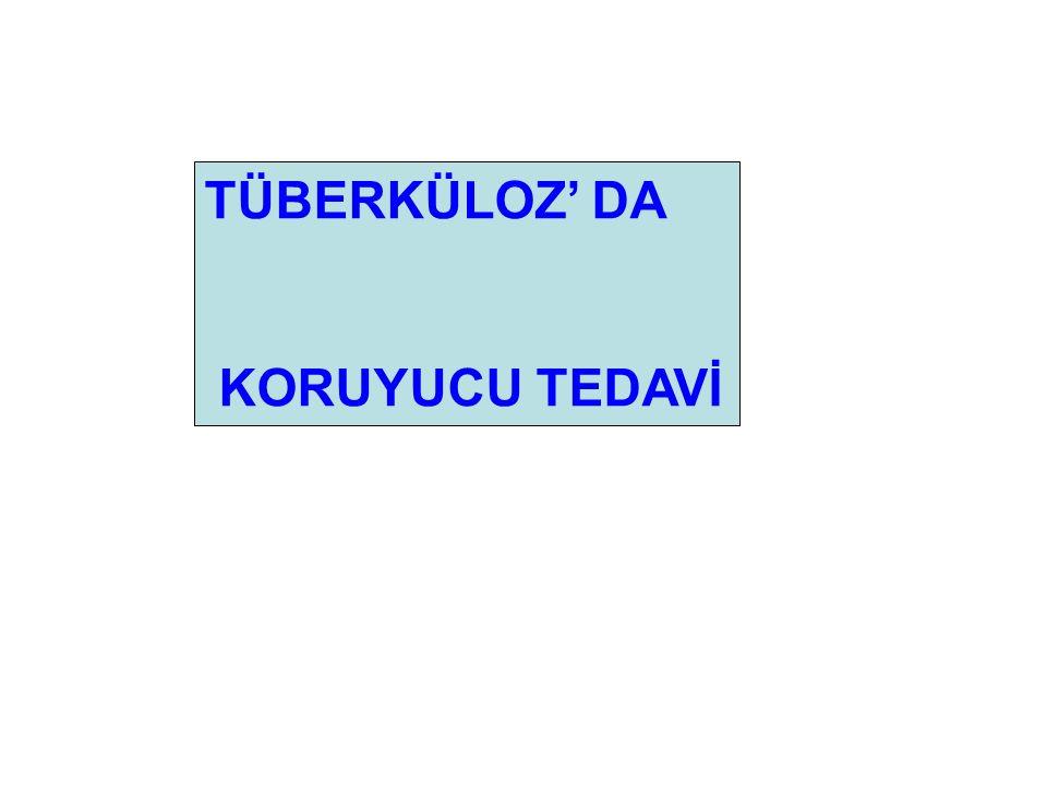 TÜBERKÜLOZ' DA KORUYUCU TEDAVİ