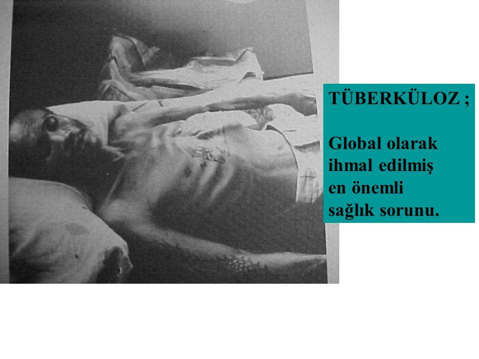TÜBERKÜLOZ HASTASI Bakteriyoloji Hastalığın yeri Önceki tedavi öyküsü Yayma (+) Yayma (-) var Akciğer dışı Nüks Ara verip dönen Yeni Olgu yok Kronik Nadiren Yayma (-) Hastalığın ağırlığı Tedavi başarı sızlığı