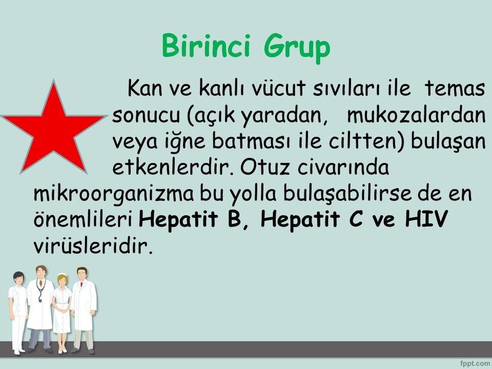 İkinci Grup Yer alan etkenler damlacık ve damlacık çekirdeği olarak hastalar tarafından salınan solunum salgılarıyla bulaşırlar: Nezle, grip, tüberküloz, kızamık, kızamıkçık, suçiçeği bu gruptadır.
