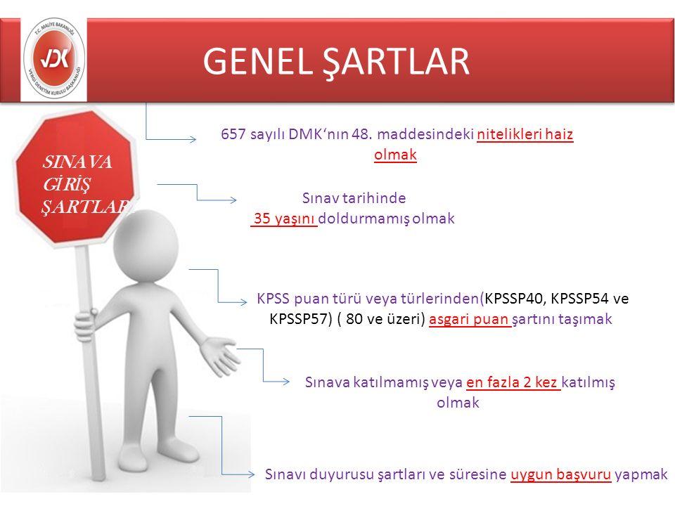 SINAVA G İ R İŞ Ş ARTLARI 657 sayılı DMK'nın 48.