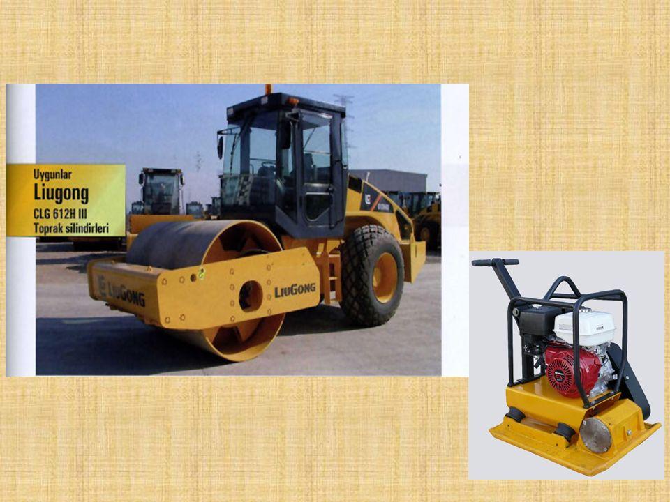 İŞ MAKİNELERİ Sıkıştırma Makineleri: Değişik cinslerde (toprak, asfalt vb. ) malzemelerin sıkıştırılmasında kullanılan iş makineleridir. (Silindir, ko