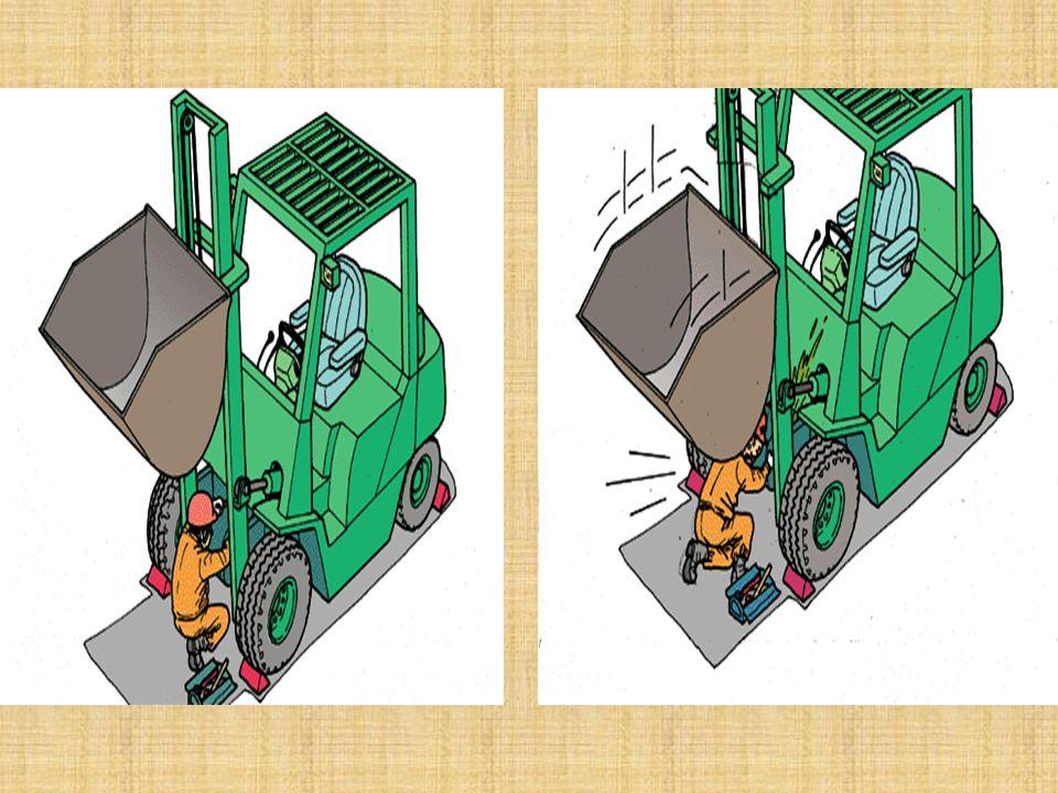Tamir tamir bakım çalışmaları esnasında meydana gelen kazalar -Hidrolik boşalması sonucu, kepçenin veya damperin altında kalma, -Radyatör vantilatörün