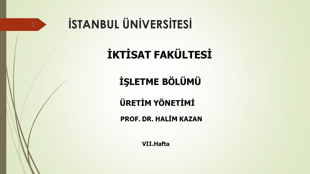 Bilimsel Araştırma Teknikleri VE SPSS UYGULAMALARI Prof Dr Halim Kazan İstanbul Üniversitesi İktisat Fakültesi İşletme Bölümü Başkanı