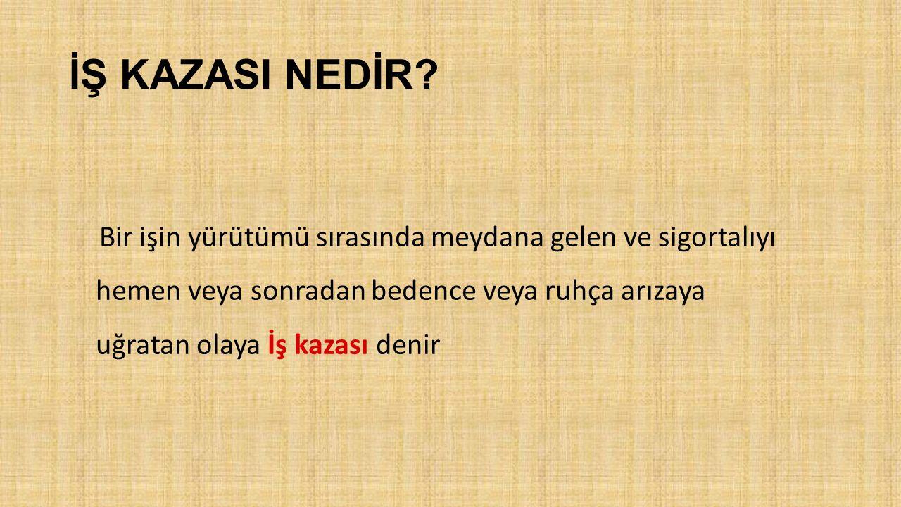 İŞ KAZASI NEDİR.