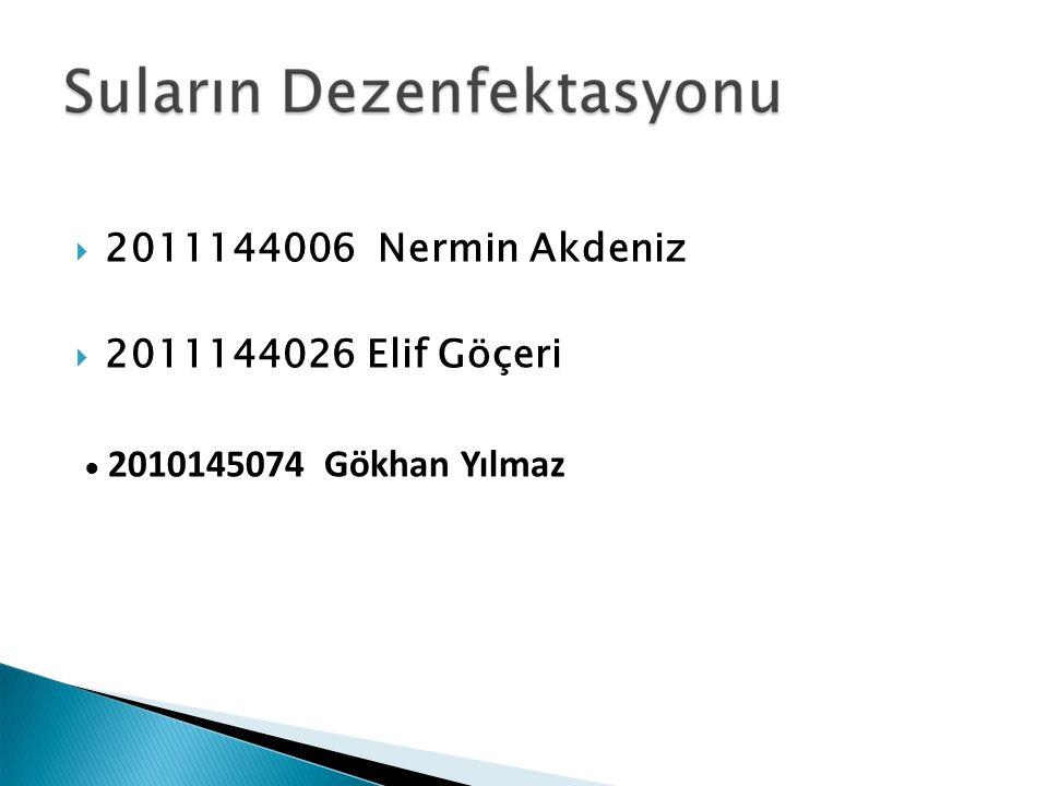  2011144006 Nermin Akdeniz  2011144026 Elif Göçeri ● 2010145074 Gökhan Yılmaz
