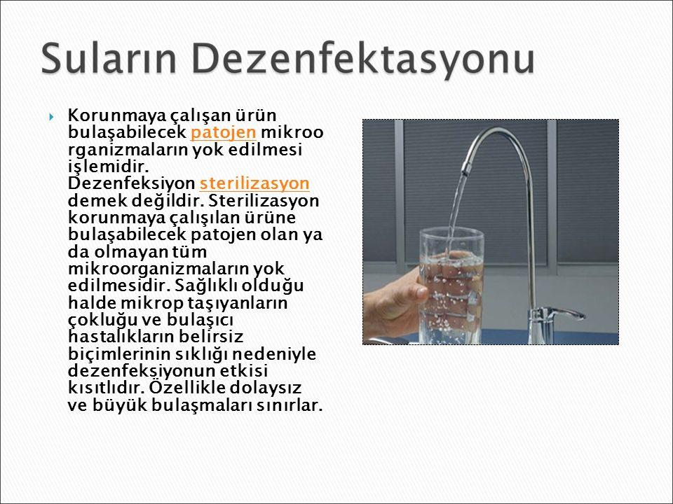  Deterjanlarda bulunan yüzey aktif maddeler dezenfeksiyon etkisine sahiptirler.