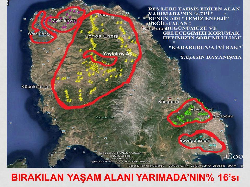 81 TÜRBİN KURULUMU TAMAMLANDI.PLANLANAN SAYI ŞİMDİLİK 266.