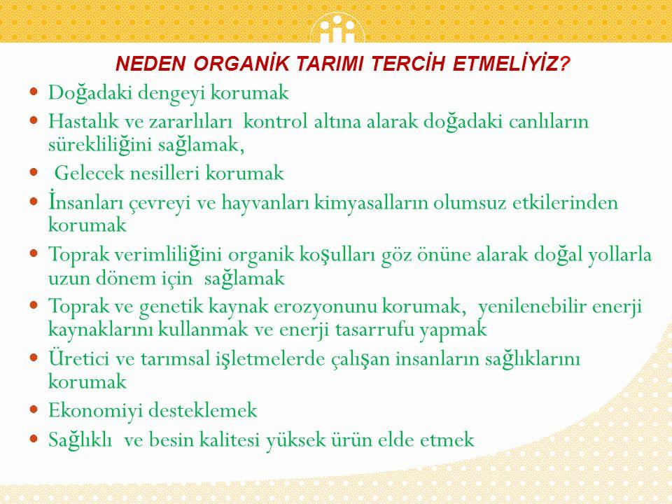 NEDEN ORGANİK TARIMI TERCİH ETMELİYİZ.