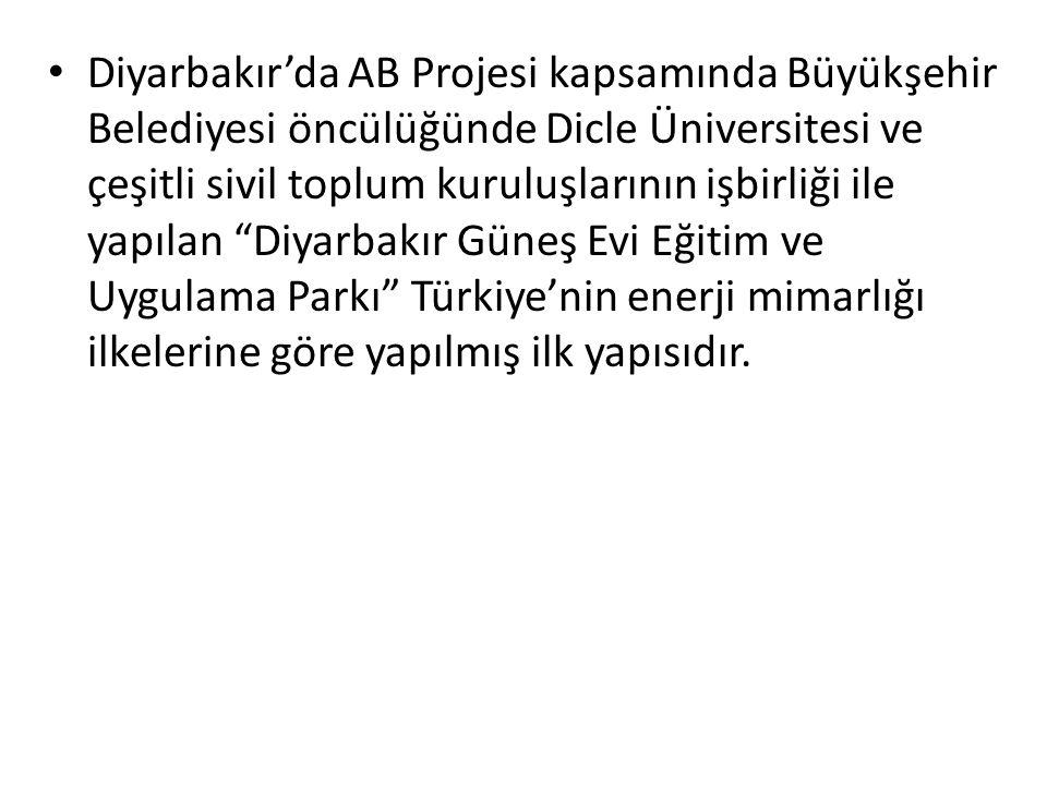 Diyarbakır'da AB Projesi kapsamında Büyükşehir Belediyesi öncülüğünde Dicle Üniversitesi ve çeşitli sivil toplum kuruluşlarının işbirliği ile yapılan