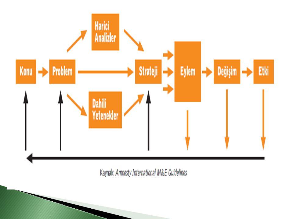  Organizasyonun çalışma alanı içine giren bir konuyla ilgili somut bir hedefe ulaşmak amaçlanmalıdır.