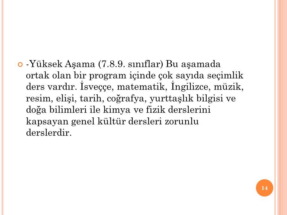 -Yüksek Aşama (7.8.9.