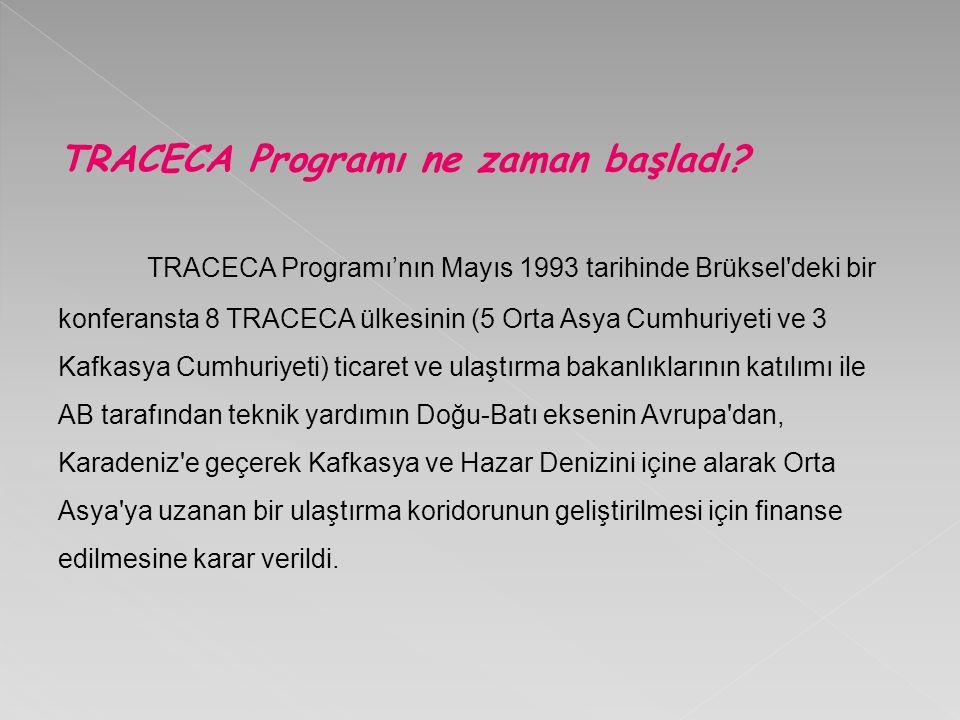TRACECA Programı ne zaman başladı.