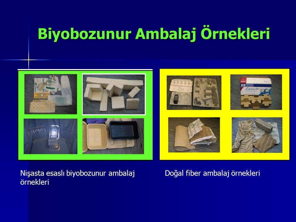 Biyobozunur Ambalaj Örnekleri Nişasta esaslı biyobozunur ambalaj örnekleri Doğal fiber ambalaj örnekleri