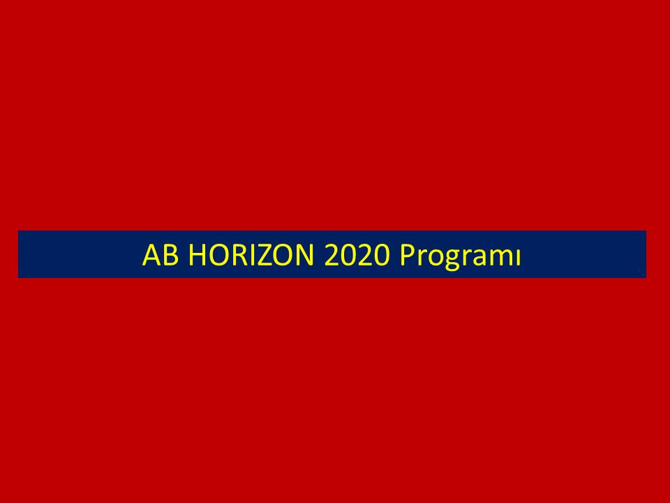 AB HORIZON 2020 Programı