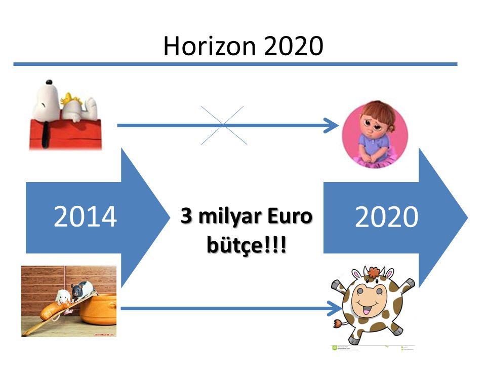 Horizon 2020 2014 3 milyar Euro bütçe!!! 2020