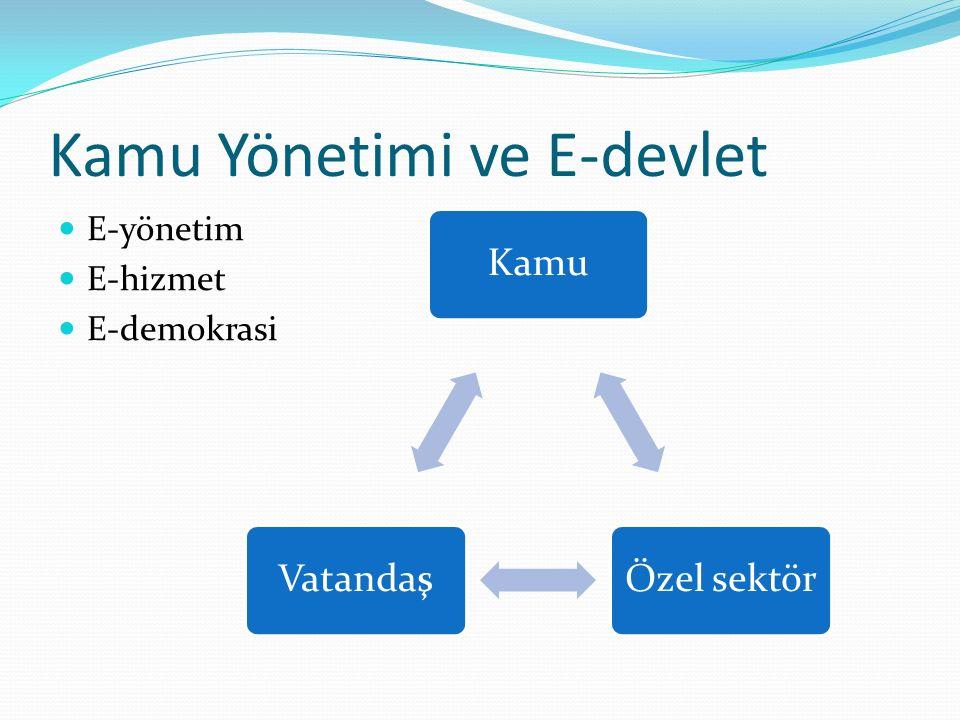 Kamu Yönetimi ve E-devlet E-yönetim E-hizmet E-demokrasi KamuÖzel sektörVatandaş