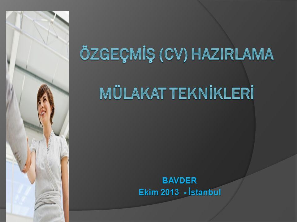 BAVDER Ekim 2013 - İstanbul