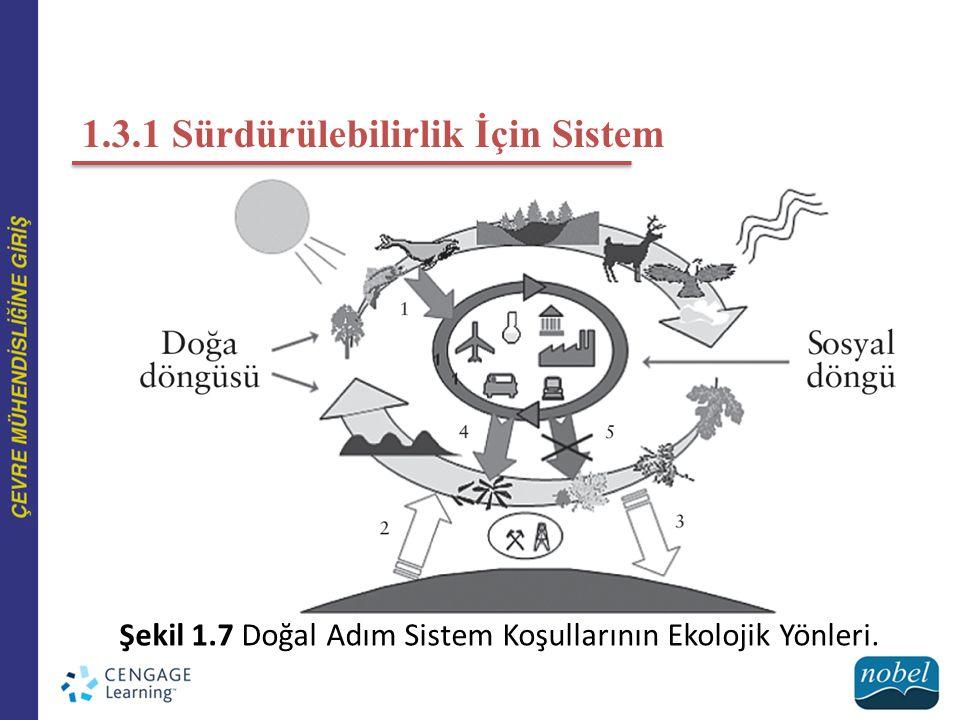 1.3.1 Sürdürülebilirlik İçin Sistem Şekil 1.7 Doğal Adım Sistem Koşullarının Ekolojik Yönleri.
