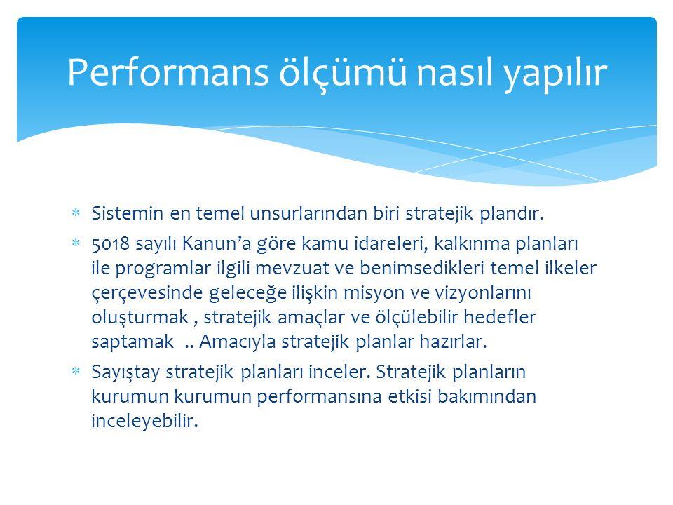  Sistemin en temel unsurlarından biri stratejik plandır.