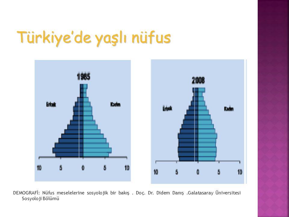 DEMOGRAFİ: Nüfus meselelerine sosyolojik bir bakış. Doç. Dr. Didem Danış.Galatasaray Üniversitesi Sosyoloji Bölümü