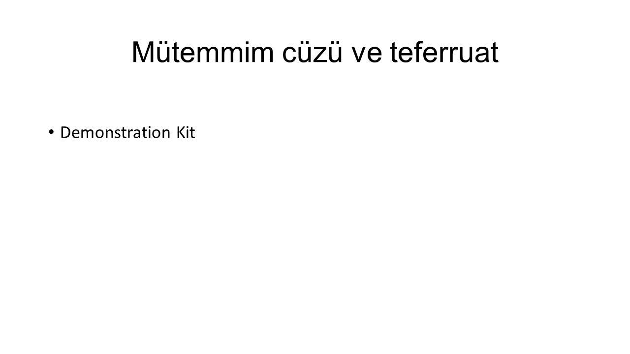 Mütemmim cüzü ve teferruat Demonstration Kit