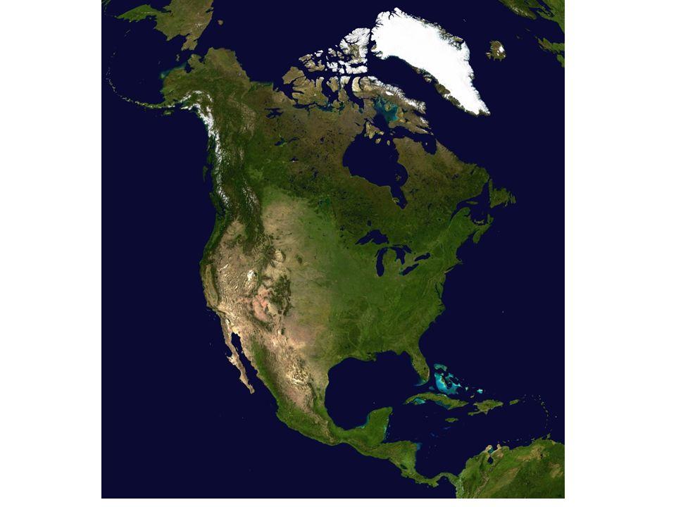 Kuzey Amerika nüfusu Doğu Asya ve Avrupa'da yaşayanlardan azdır.
