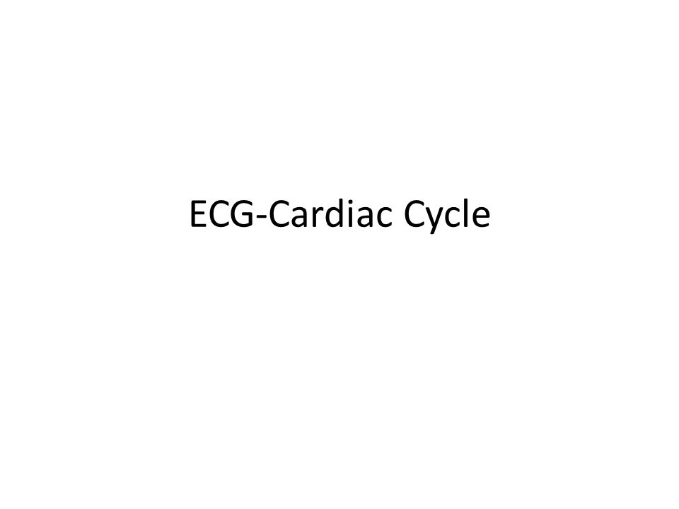 ECG-Cardiac Cycle