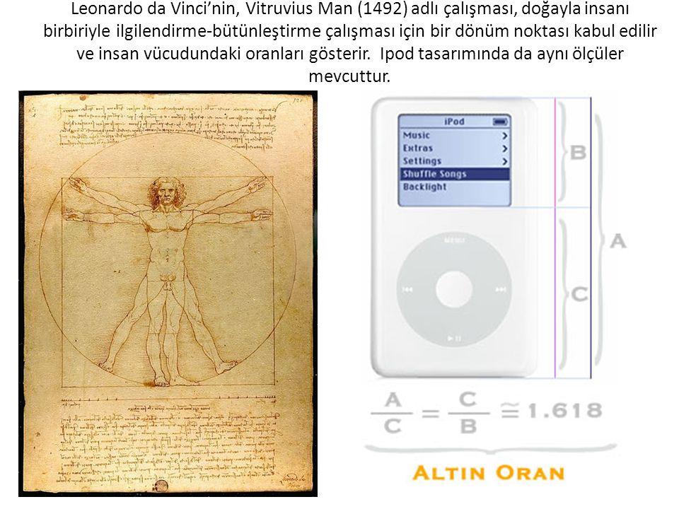 Leonardo da Vinci'nin, Vitruvius Man (1492) adlı çalışması, doğayla insanı birbiriyle ilgilendirme-bütünleştirme çalışması için bir dönüm noktası kabu