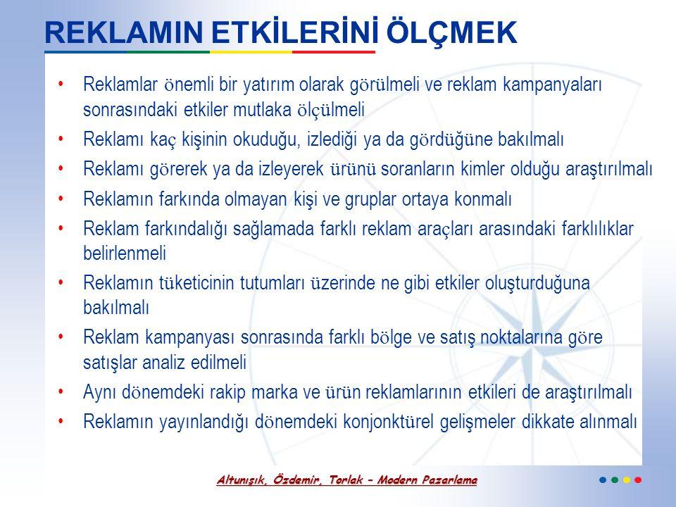 Altunışık, Özdemir, Torlak – Modern Pazarlama Reklam Kampanyası Süreci