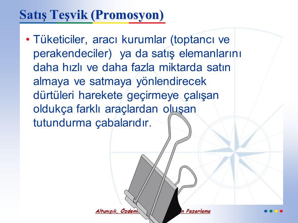 Altunışık, Özdemir, Torlak – Modern Pazarlama Kişisel Satış Süreci Satış görüşmesine hazırlık ya da müşteriyi karşılama Müşteriyle görüşme Müşterinin