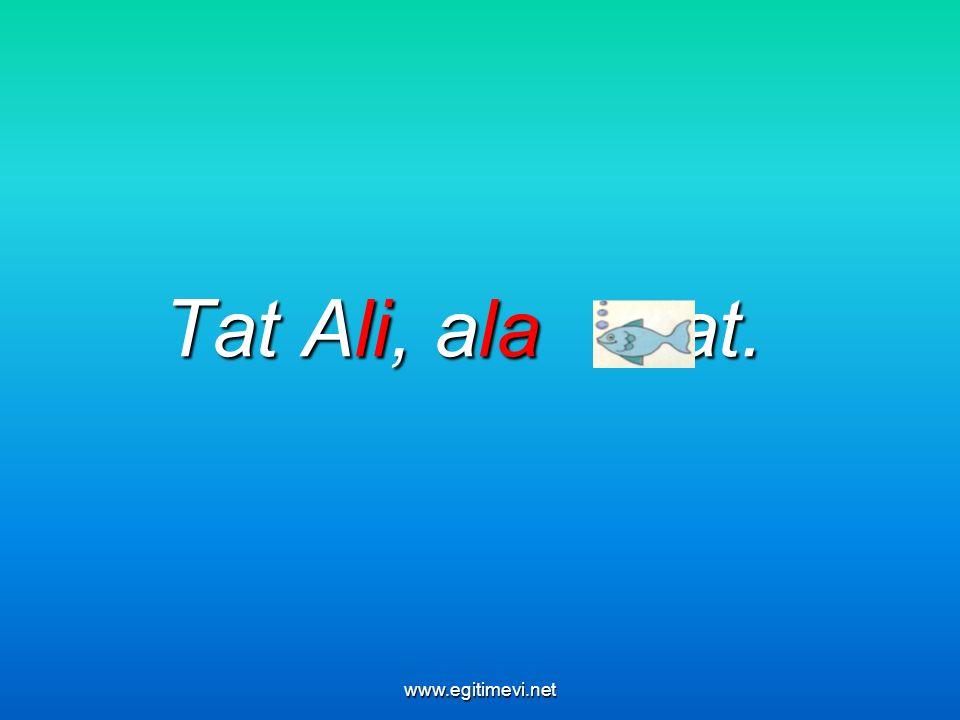 Tat Ali, ala tat. www.egitimevi.net