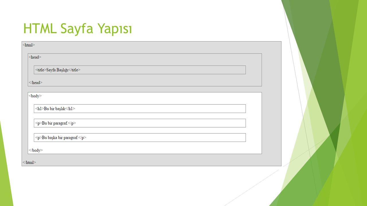 Tabloları Biçimlendirmek  Çerçeve için CSS border özelliği kullanılabilir.