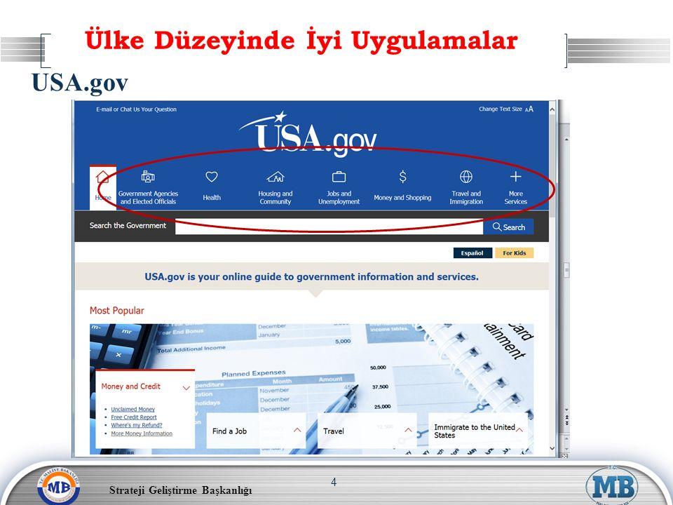 Strateji Geliştirme Başkanlığı 4 Ülke Düzeyinde İyi Uygulamalar USA.gov