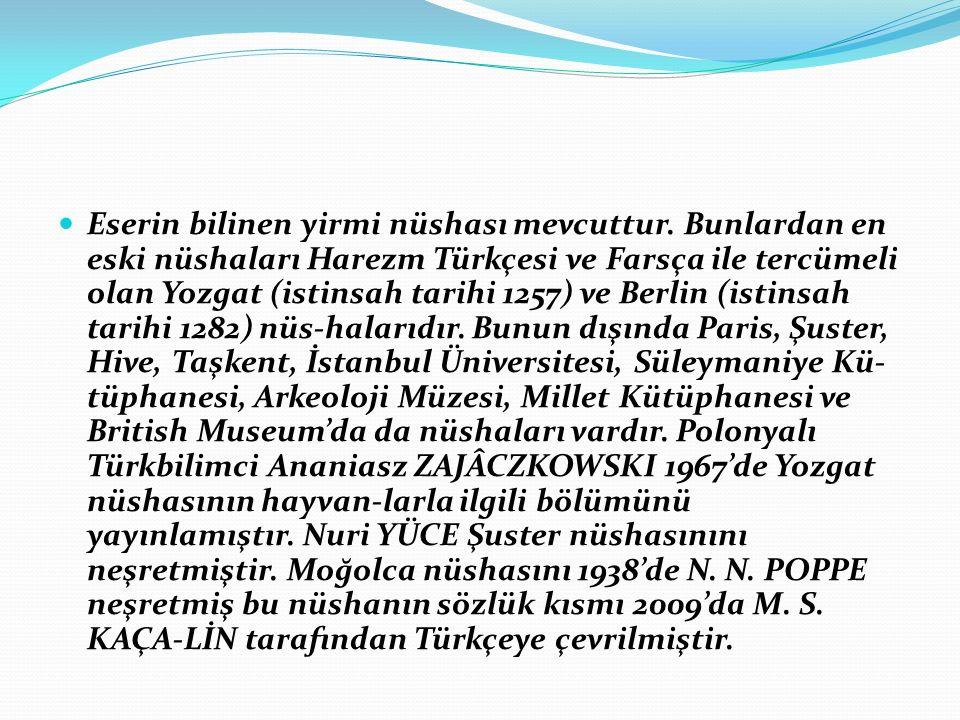 Kısasü'l-Enbiya [=Nebilerin Kıssaları] Harezm Türkçesi döneminin ilk eseridir.