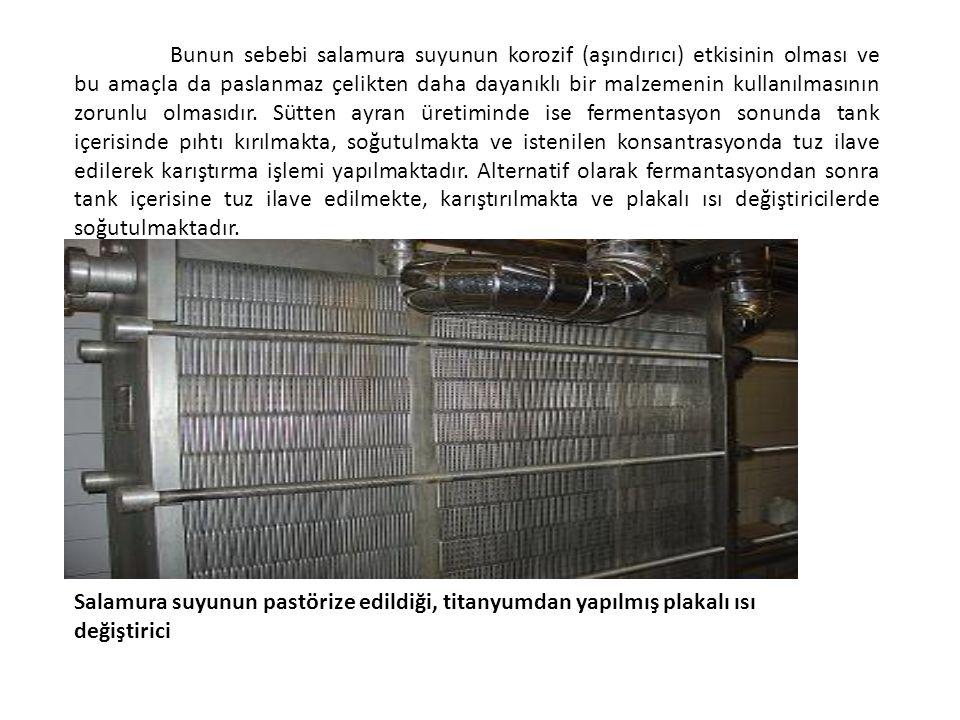 Bunun sebebi salamura suyunun korozif (aşındırıcı) etkisinin olması ve bu amaçla da paslanmaz çelikten daha dayanıklı bir malzemenin kullanılmasının z