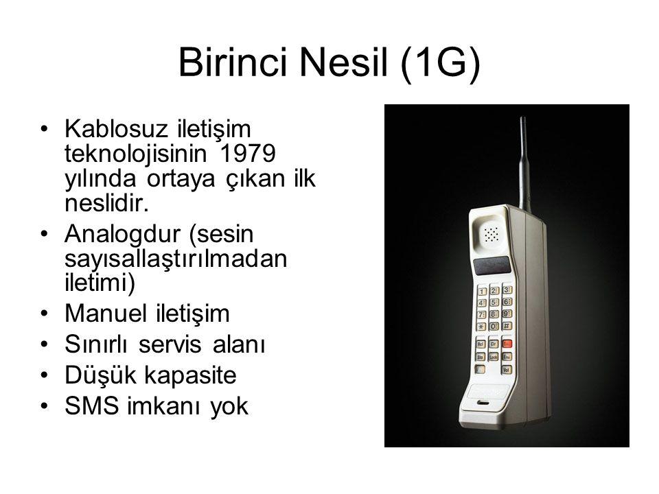 Birinci Nesil (1G) Kablosuz iletişim teknolojisinin 1979 yılında ortaya çıkan ilk neslidir.