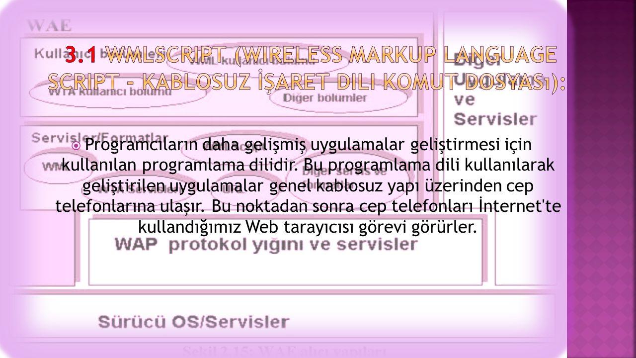  Kullanıcıların uygulama geliştirmesi için kullanılacak programlama dilidir.