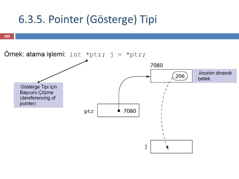 6.3.5. Pointer (Gösterge) Tipi 105
