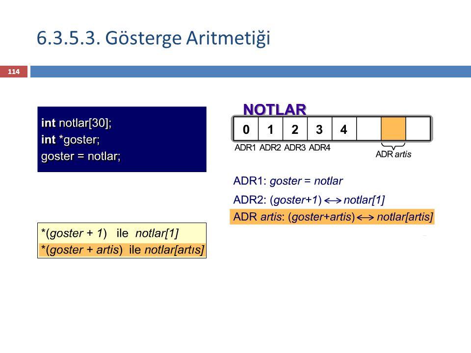 6.3.5.3. Gösterge Aritmetiği 114