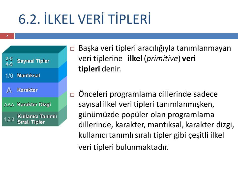 Ödev  1- İlkel ve Yapısal Veri Tiplerinin imperative, fonksiyonel, mantıksal ve nesneye yönelik diller için kullanımlarına birer örnek program araştırınız.
