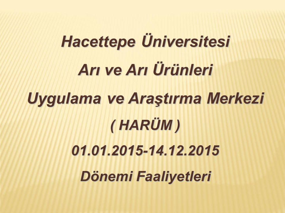 Hacettepe Üniversitesi Arı ve Arı Ürünleri Uygulama ve Araştırma Merkezi ( HARÜM ) 01.01.2015-14.12.2015 Dönemi Faaliyetleri