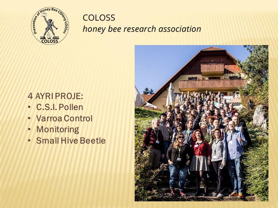 4 AYRI PROJE: C.S.I. Pollen Varroa Control Monitoring Small Hive Beetle