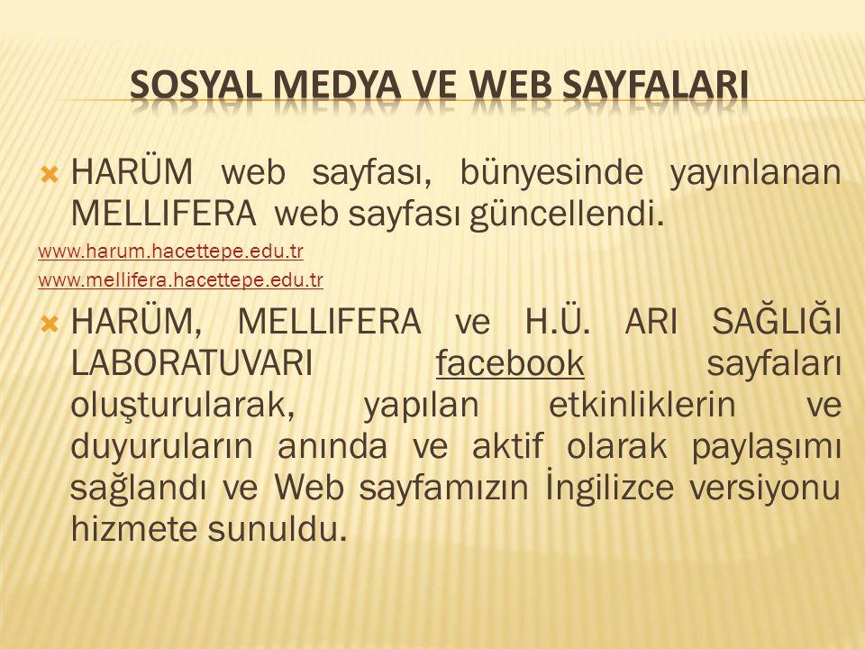  HARÜM web sayfası, bünyesinde yayınlanan MELLIFERA web sayfası güncellendi.