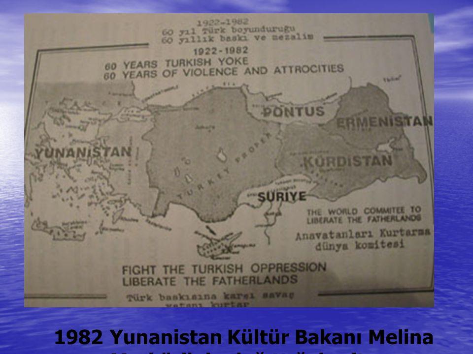 1982 Yunanistan Kültür Bakanı Melina Merküri nin dağıttığı harita