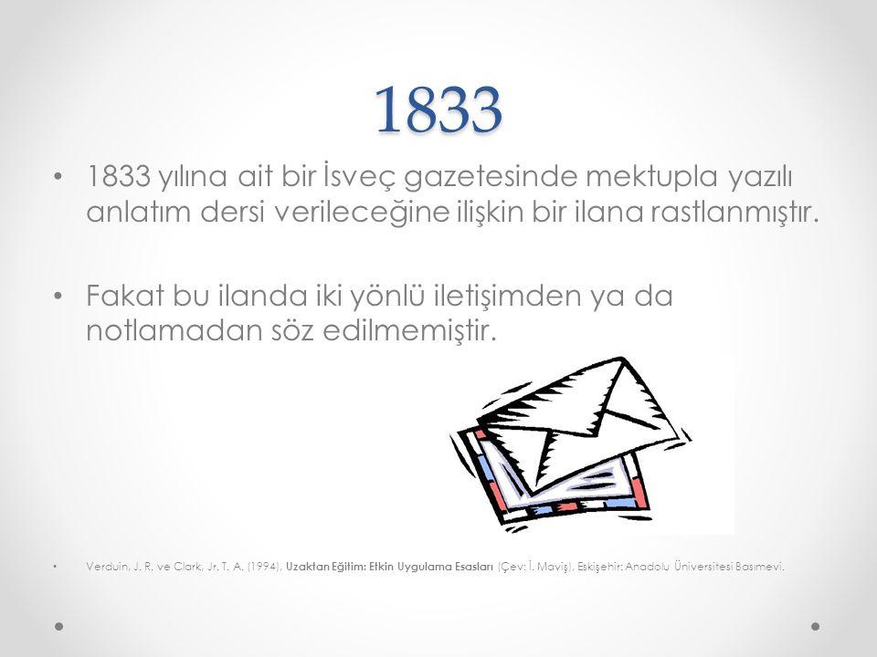 1840 İngiltere'de, bir stenograf olan Isaac Pitman (1813- 1897), Bath'da, mektupla steno öğretmeye başlamıştır.