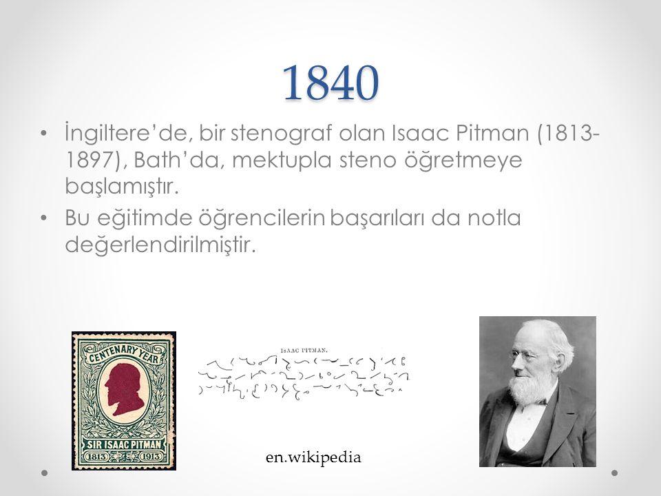 1856 Bu yılda Fransızca öğretmeni Charles Toussaint (1813-1877) ve Almanca öğretmeni Gustav Langenscheid (1832-1895) Almanya'da Berlin'de, günümüzde de Langenscheid adıyla öğretim malzemeleri yayınlayan ve o yıllarda uzaktan eğitim uygulayan dil okulunu kurmuştur.