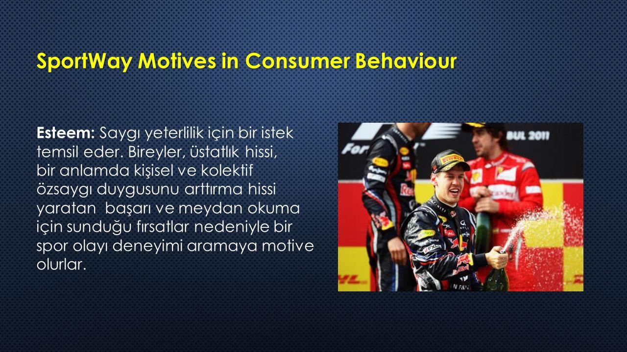 SportWay Motives in Consumer Behaviour Esteem: Saygı yeterlilik için bir istek temsil eder.