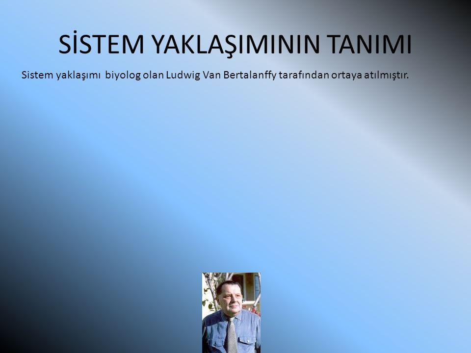 SİSTEM YAKLAŞIMININ TANIMI Sistem yaklaşımı biyolog olan Ludwig Van Bertalanffy tarafından ortaya atılmıştır.